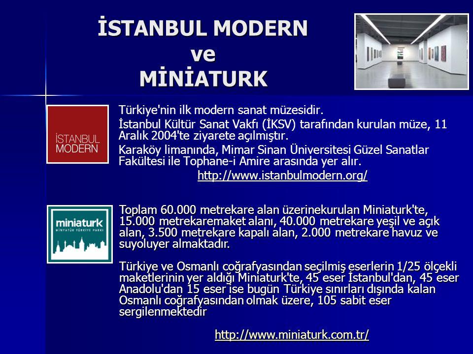 İSTANBUL MODERN ve MİNİATURK