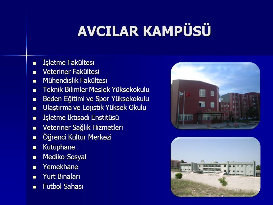 AVCILAR KAMPÜSÜ İşletme Fakültesi Veteriner Fakültesi