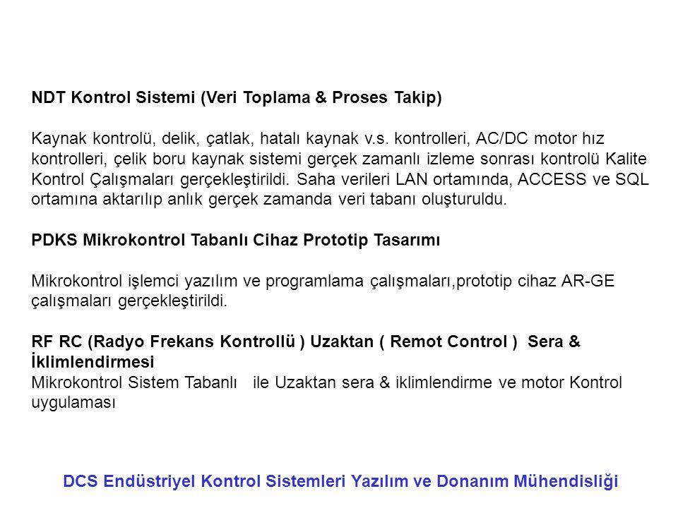 NDT Kontrol Sistemi (Veri Toplama & Proses Takip)