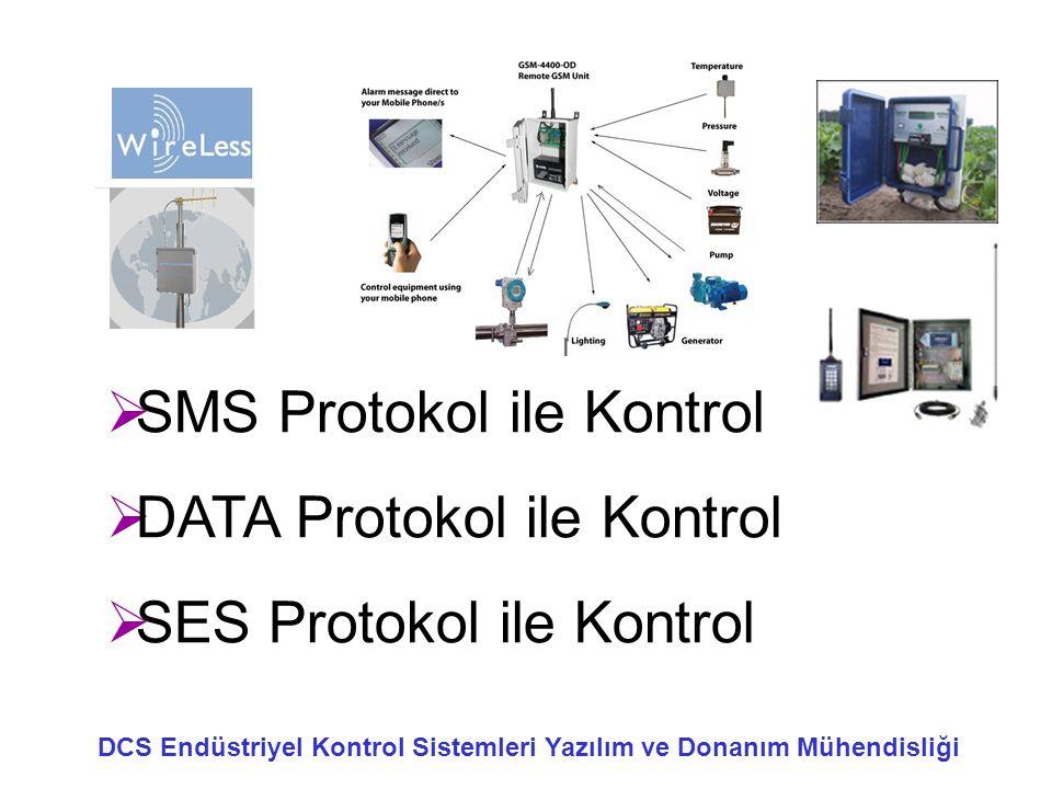 SMS Protokol ile Kontrol DATA Protokol ile Kontrol