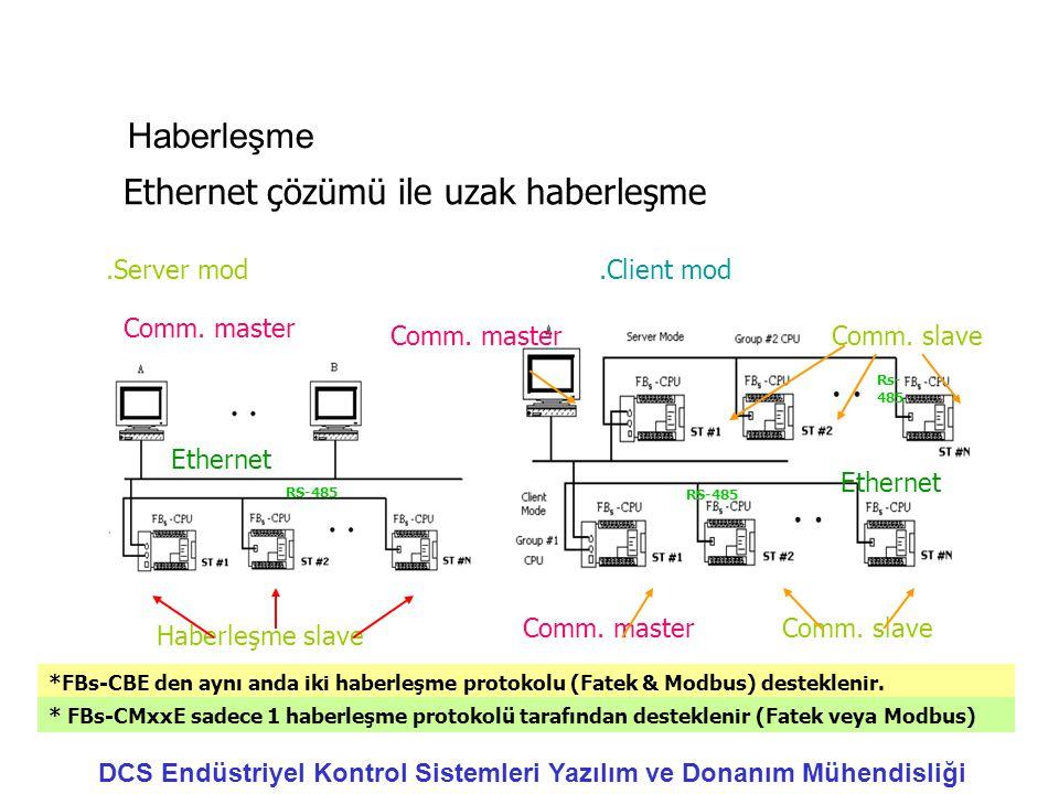 Ethernet çözümü ile uzak haberleşme