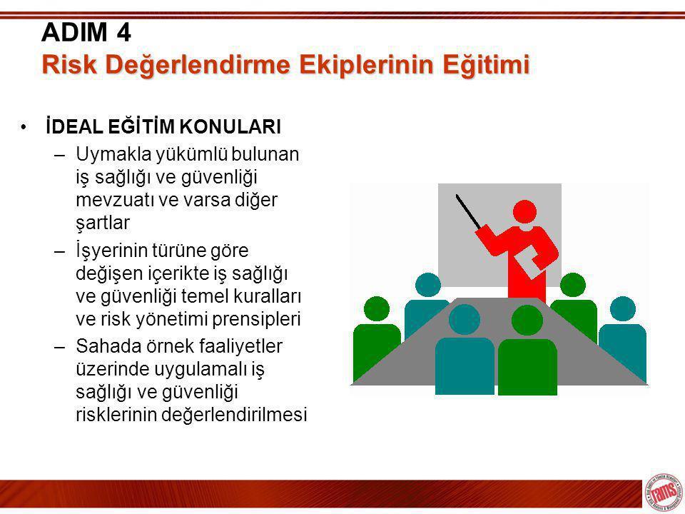ADIM 4 Risk Değerlendirme Ekiplerinin Eğitimi