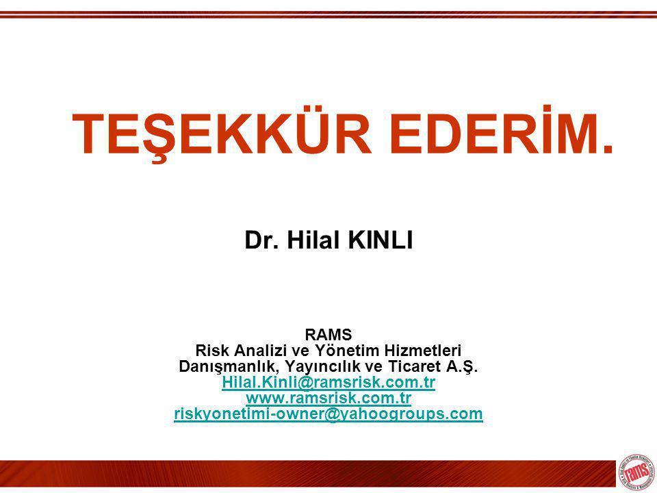 TEŞEKKÜR EDERİM. Dr. Hilal KINLI RAMS