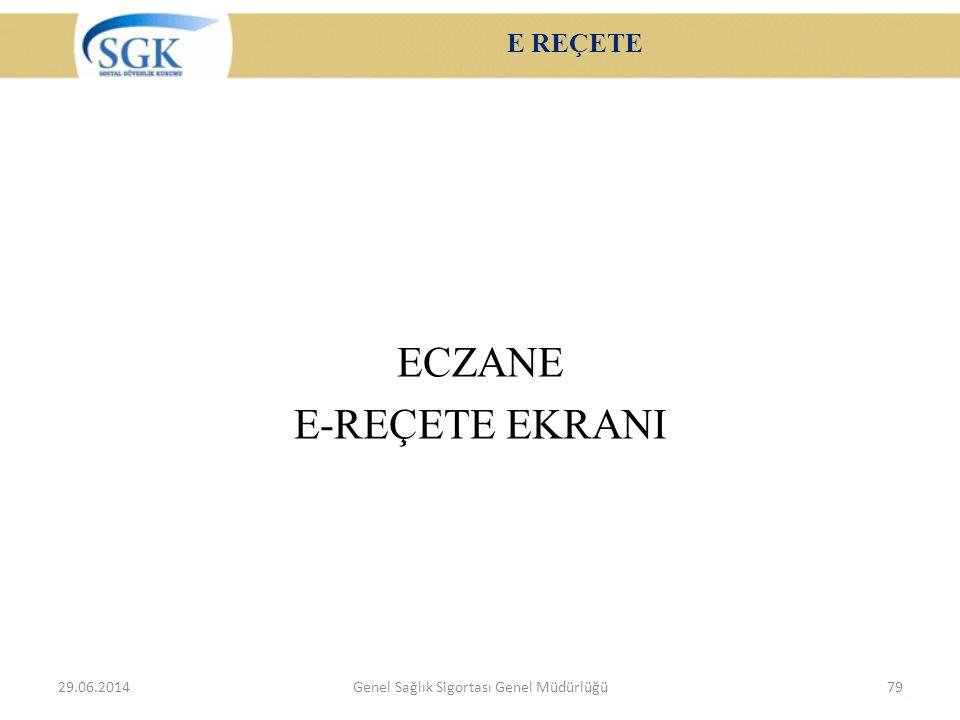 ECZANE E-REÇETE EKRANI