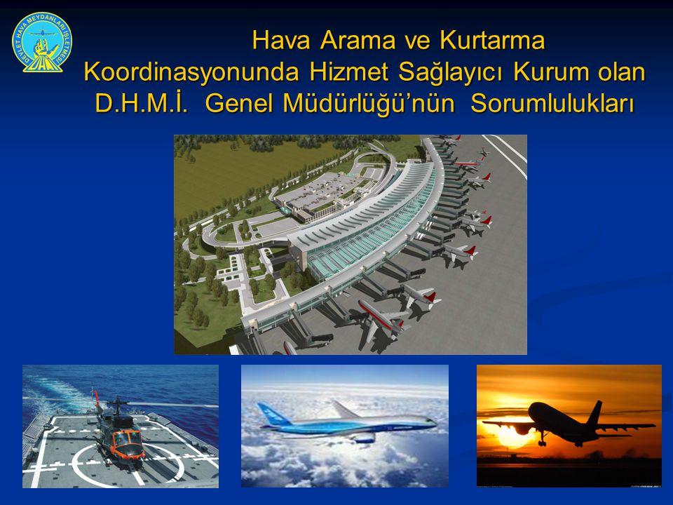 Hava Arama ve Kurtarma Koordinasyonunda Hizmet Sağlayıcı Kurum olan D