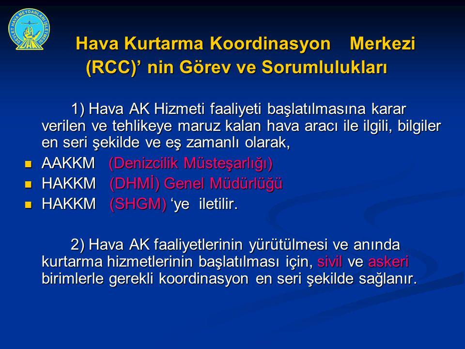 Hava Kurtarma Koordinasyon Merkezi (RCC)' nin Görev ve Sorumlulukları