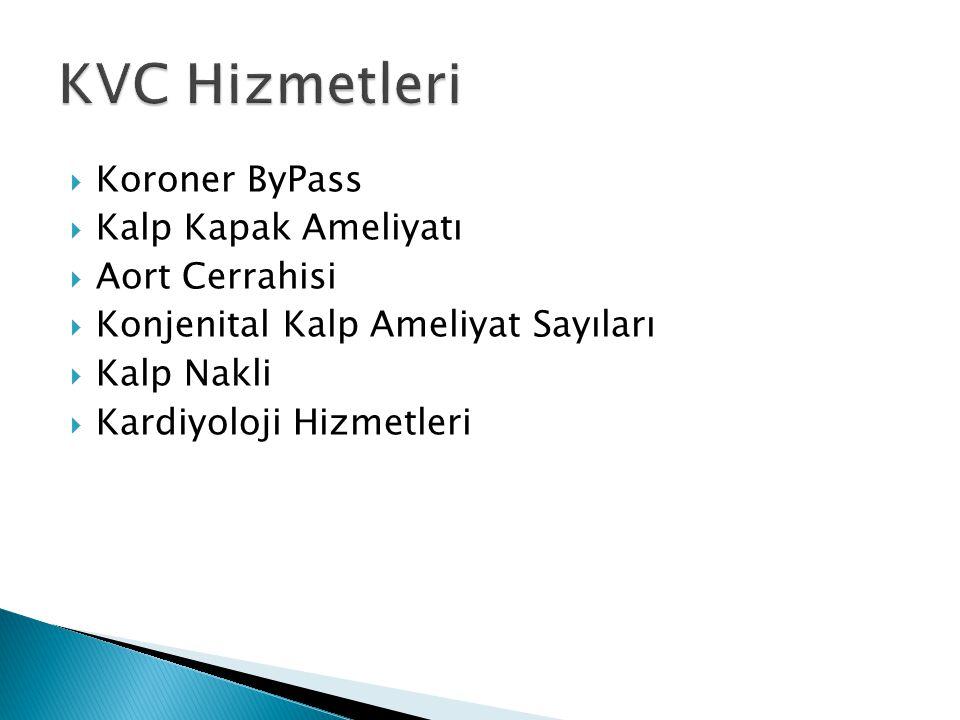 KVC Hizmetleri Koroner ByPass Kalp Kapak Ameliyatı Aort Cerrahisi