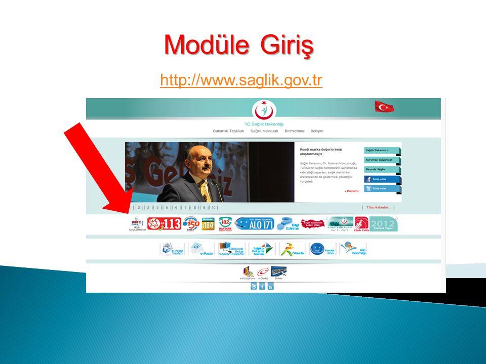 Modüle Giriş http://www.saglik.gov.tr