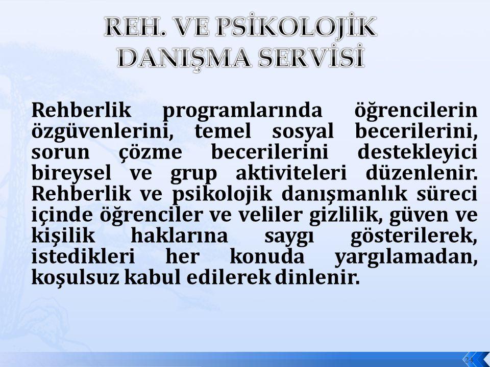 REH. VE PSİKOLOJİK DANIŞMA SERVİSİ