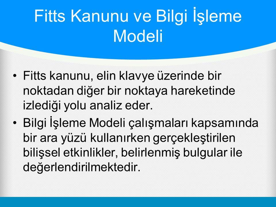 Fitts Kanunu ve Bilgi İşleme Modeli