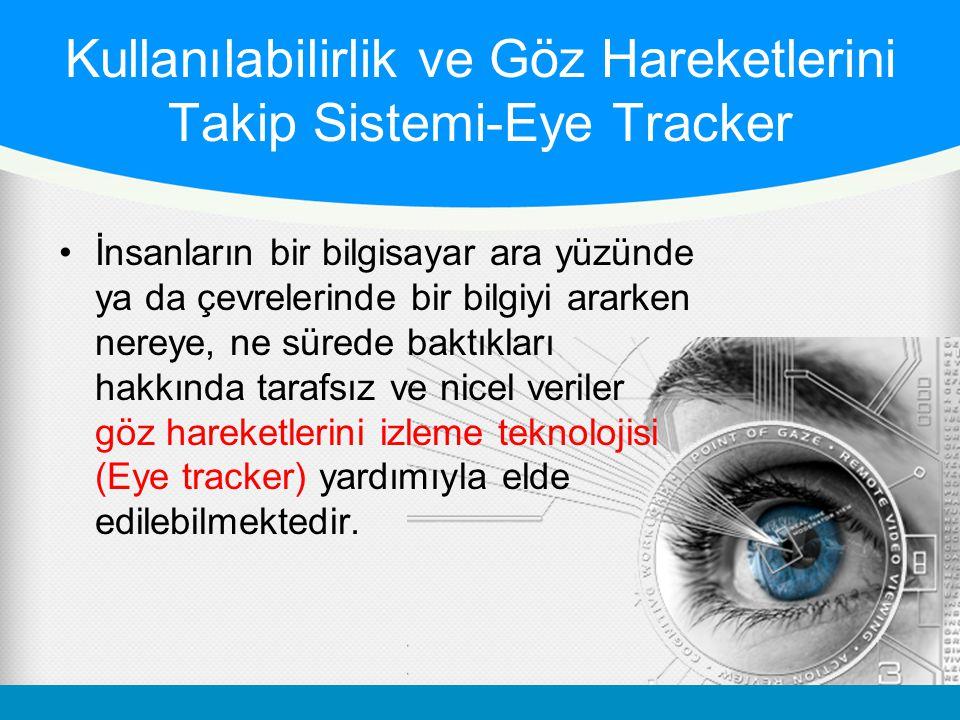 Kullanılabilirlik ve Göz Hareketlerini Takip Sistemi-Eye Tracker
