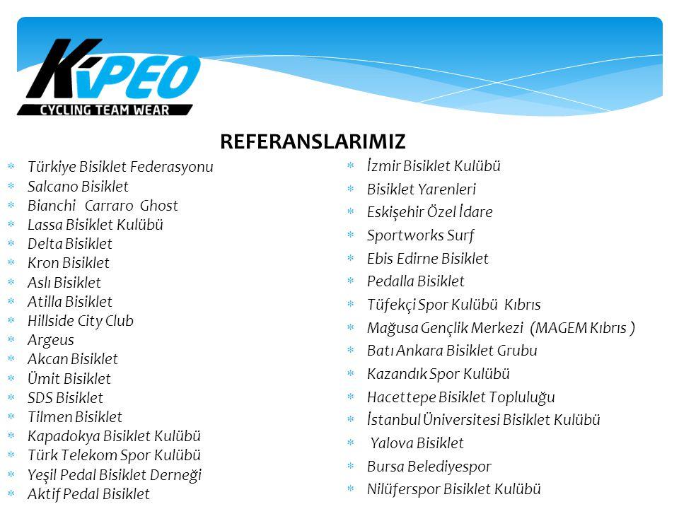 REFERANSLARIMIZ İzmir Bisiklet Kulübü Türkiye Bisiklet Federasyonu