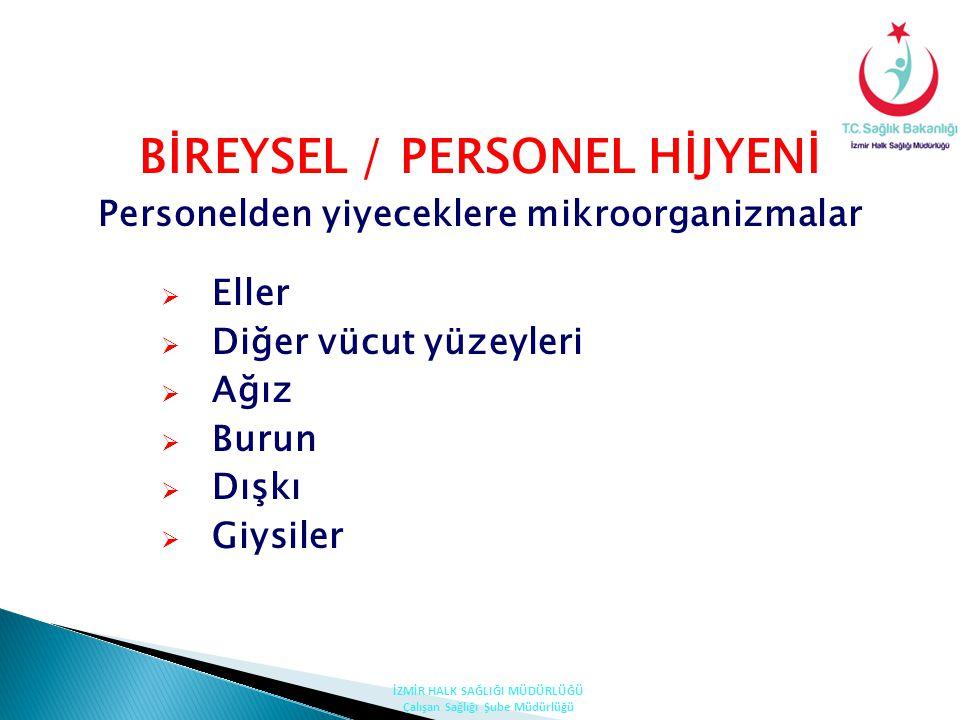 BİREYSEL / PERSONEL HİJYENİ