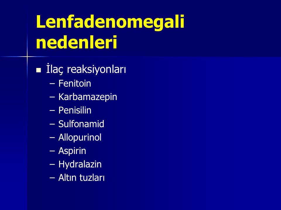 Lenfadenomegali nedenleri