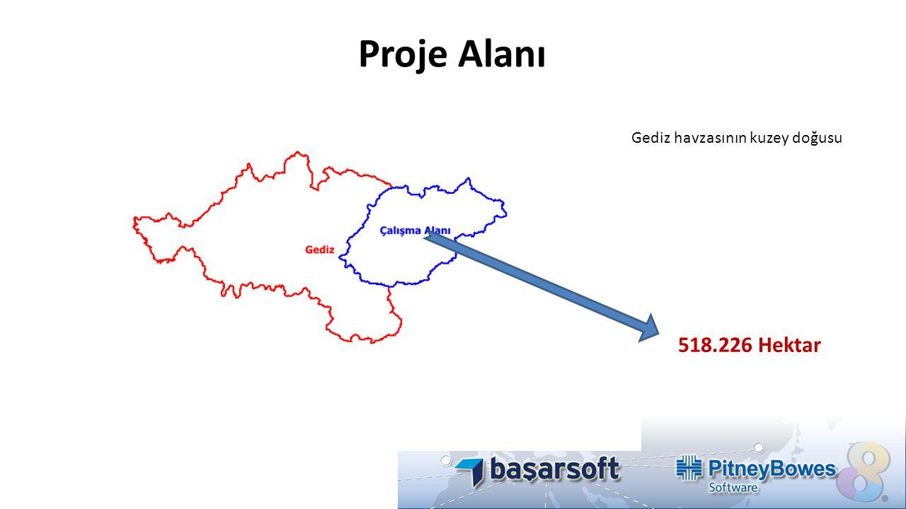 Proje Alanı Gediz havzasının kuzey doğusu 518.226 Hektar