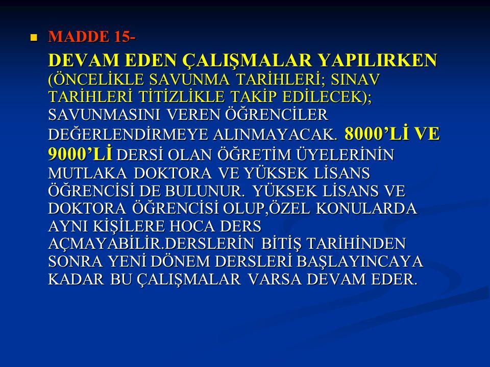 MADDE 15-