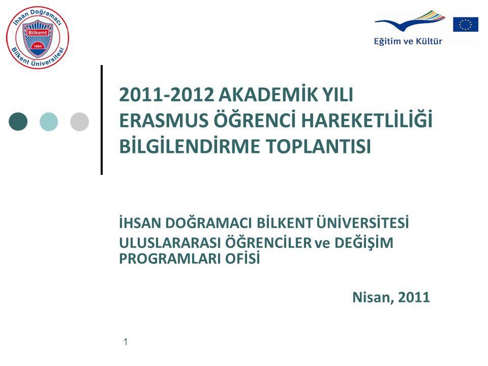 2011-2012 AKADEMİK YILI ERASMUS ÖĞRENCİ HAREKETLİLİĞİ BİLGİLENDİRME TOPLANTISI