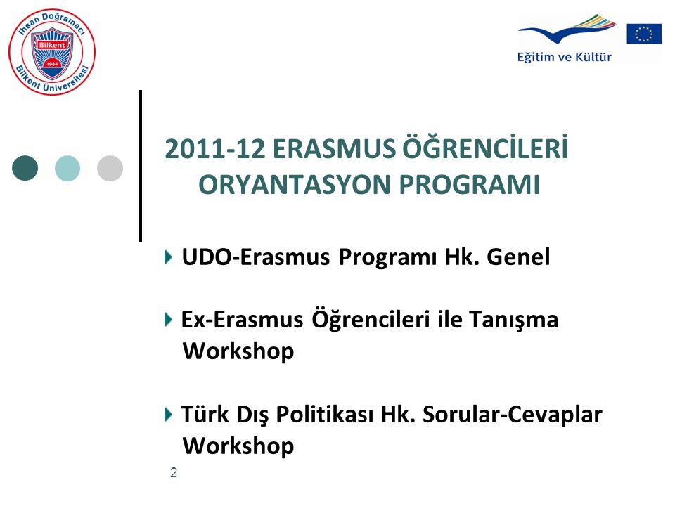 2011-12 ERASMUS ÖĞRENCİLERİ ORYANTASYON PROGRAMI