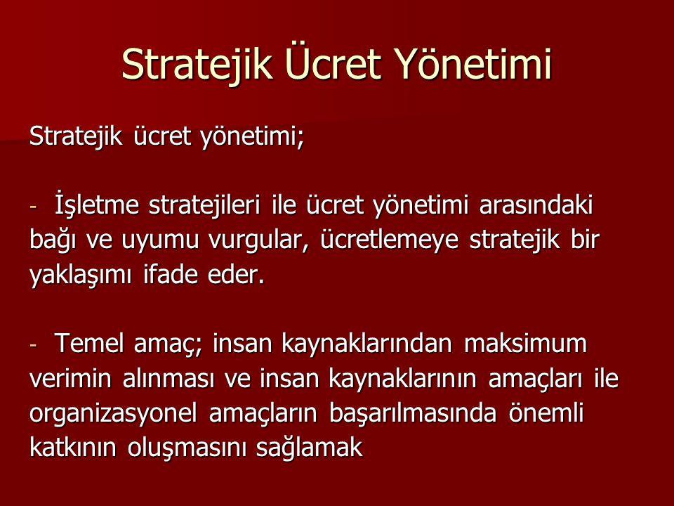 Stratejik Ücret Yönetimi