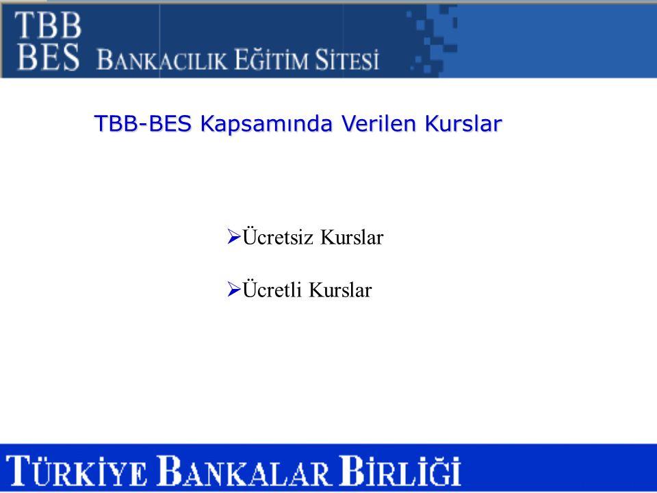 TBB-BES Kapsamında Verilen Kurslar