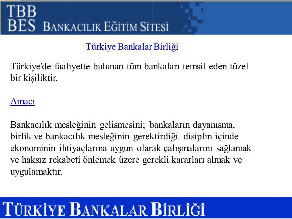 Türkiye de faaliyette bulunan tüm bankaları temsil eden tüzel