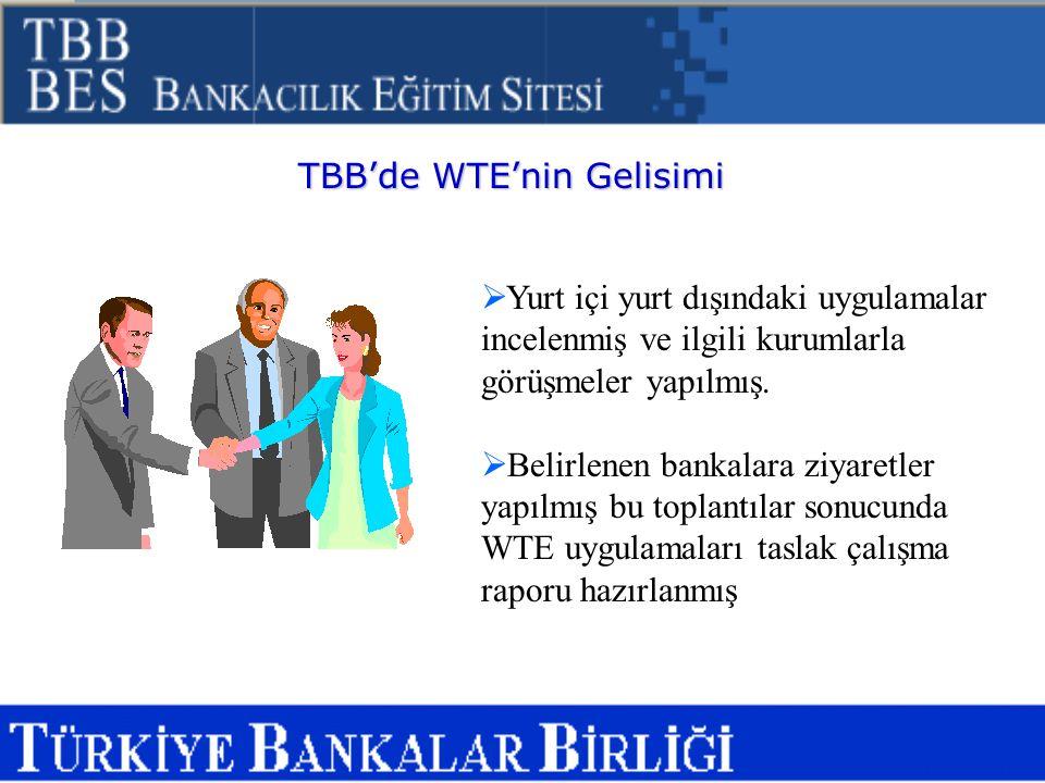 TBB'de WTE'nin Gelisimi