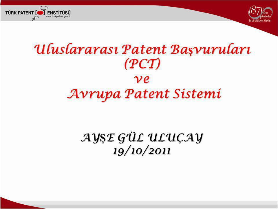 Uluslararası Patent Başvuruları (PCT)