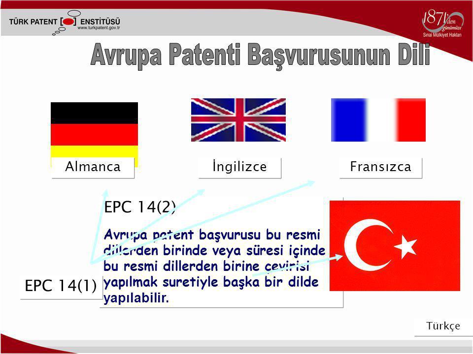Avrupa Patenti Başvurusunun Dili