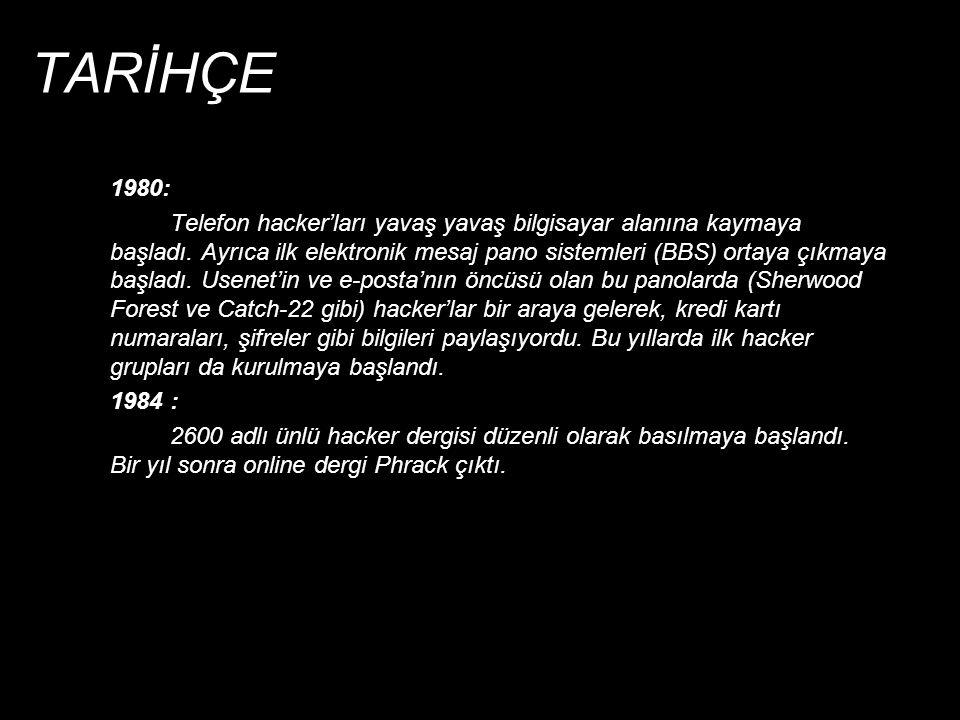 TARİHÇE 1980: