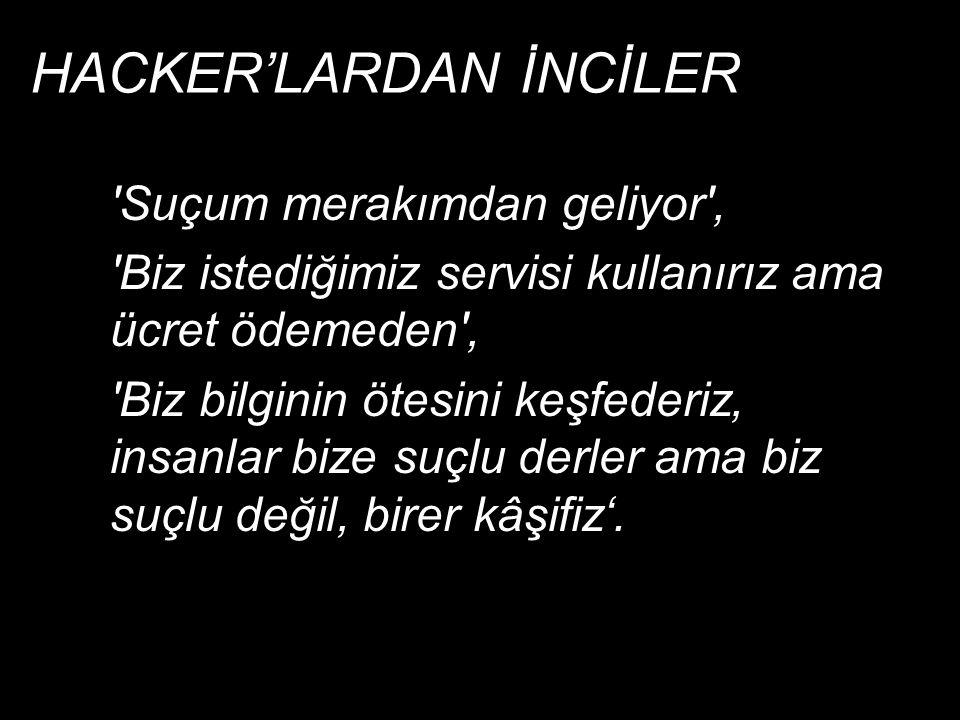 HACKER'LARDAN İNCİLER