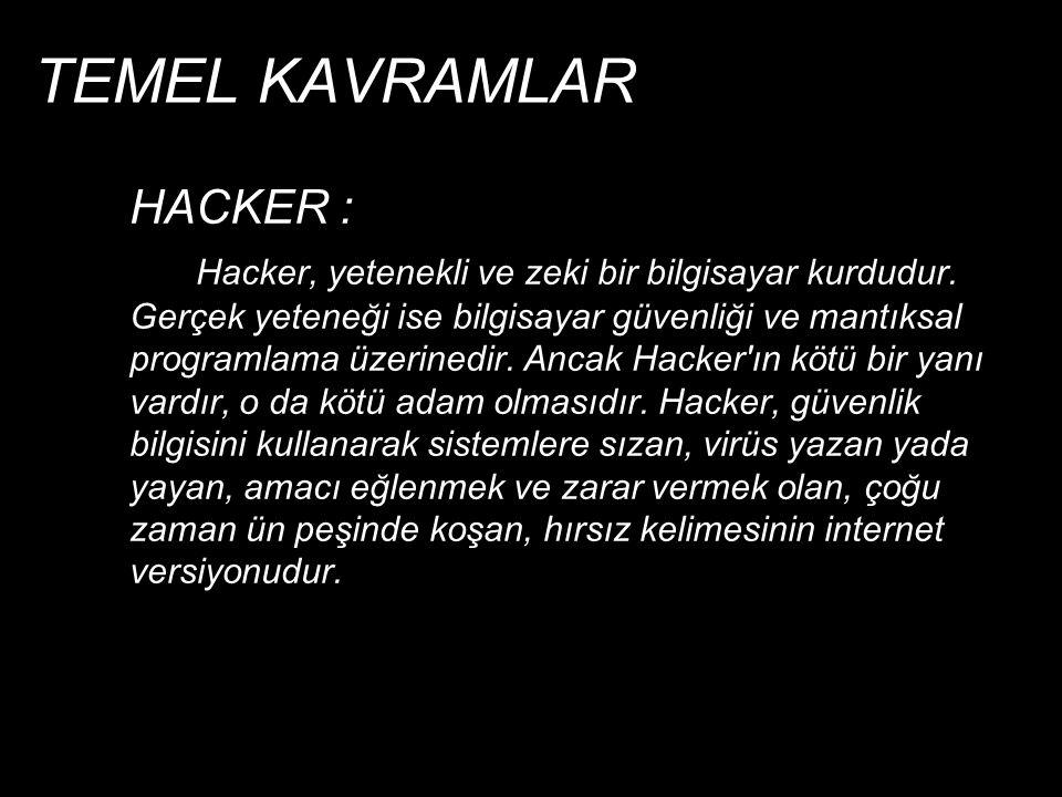 TEMEL KAVRAMLAR HACKER :