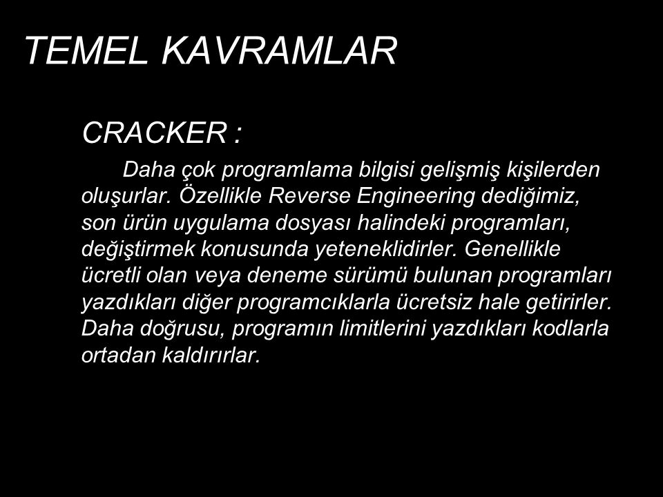 TEMEL KAVRAMLAR CRACKER :