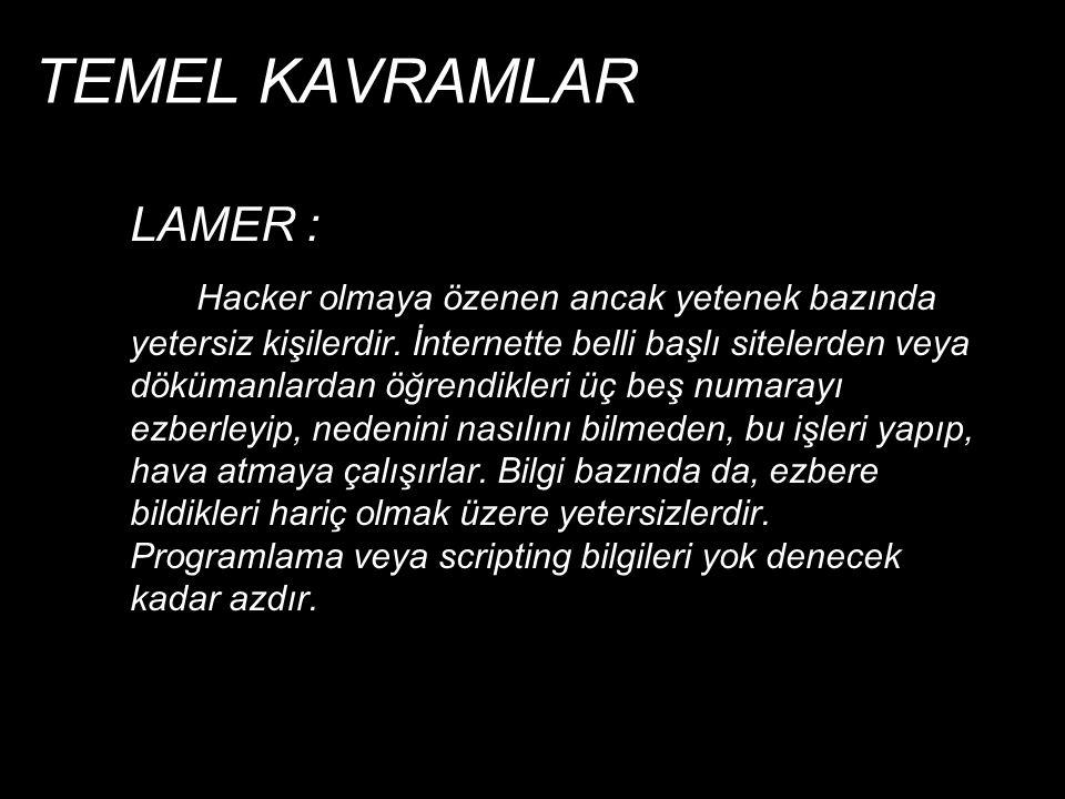 TEMEL KAVRAMLAR LAMER :