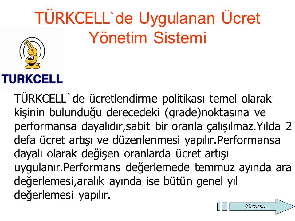 TÜRKCELL`de Uygulanan Ücret Yönetim Sistemi