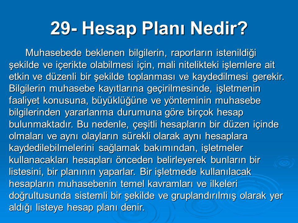 29- Hesap Planı Nedir