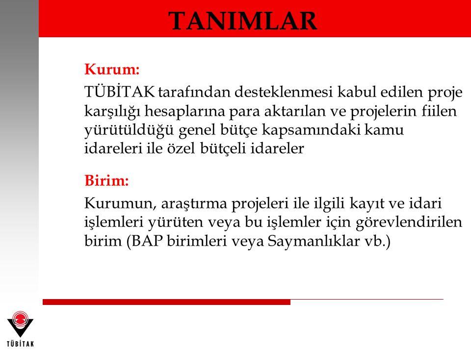 TANIMLAR Kurum: