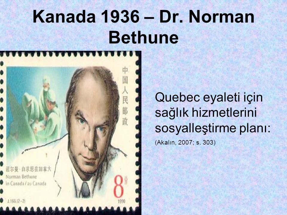 Kanada 1936 – Dr. Norman Bethune