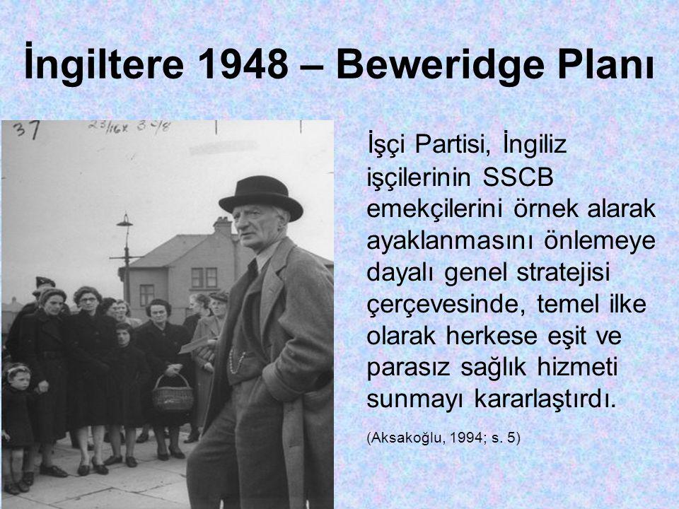 İngiltere 1948 – Beweridge Planı
