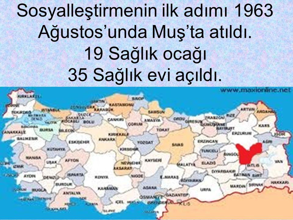Sosyalleştirmenin ilk adımı 1963 Ağustos'unda Muş'ta atıldı