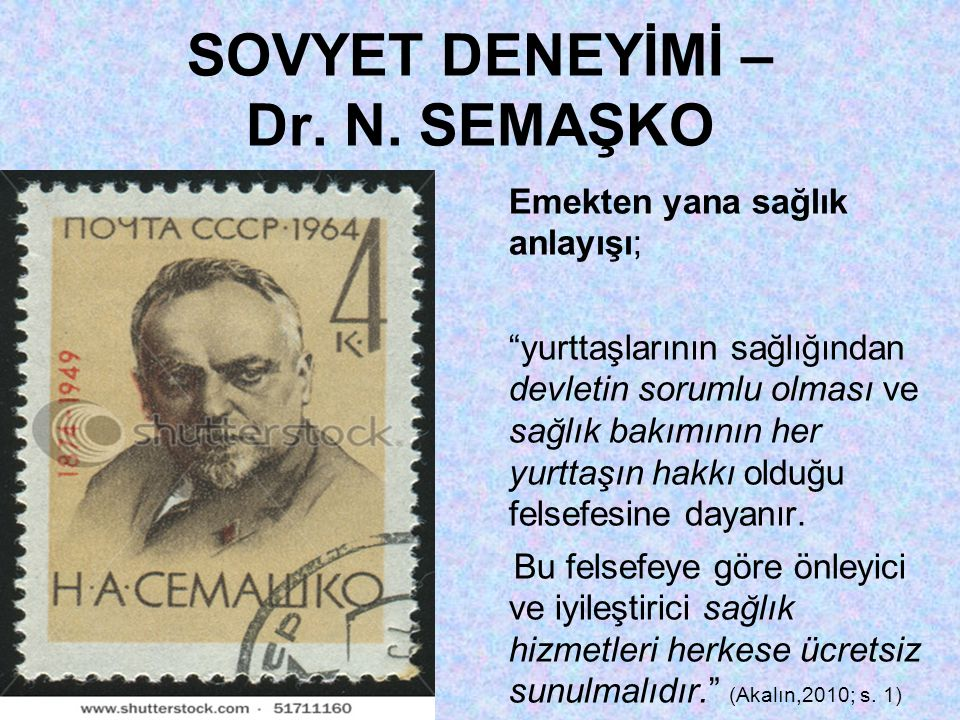 SOVYET DENEYİMİ – Dr. N. SEMAŞKO