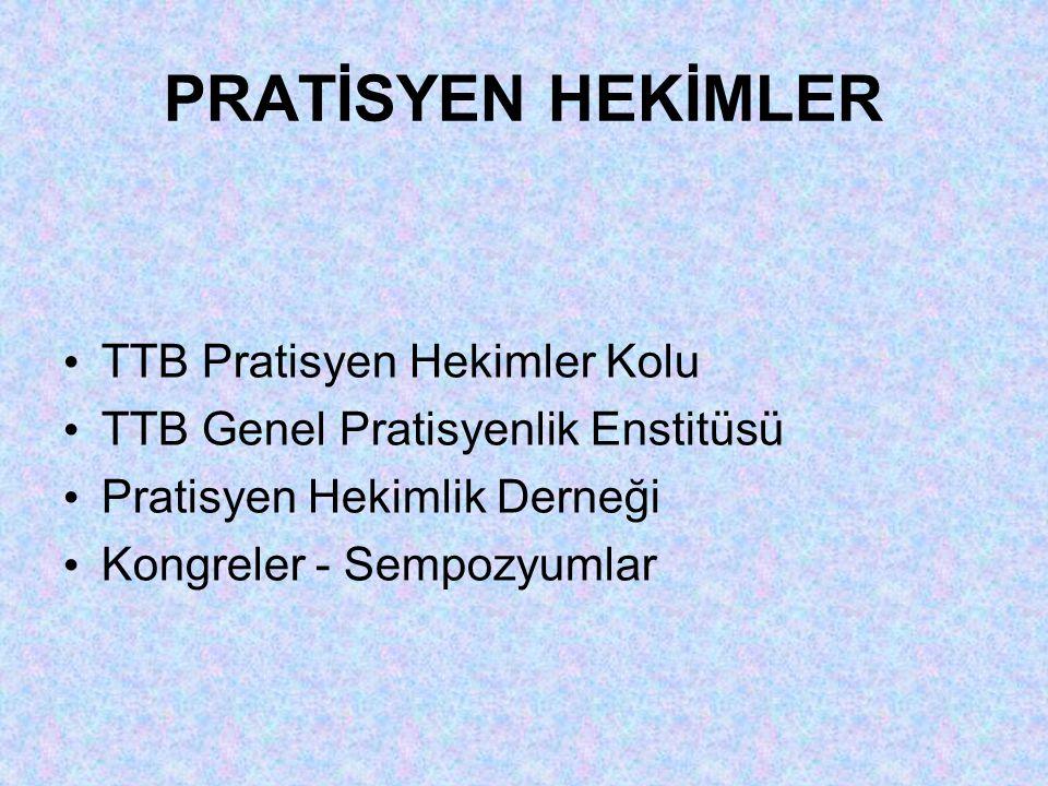 PRATİSYEN HEKİMLER TTB Pratisyen Hekimler Kolu