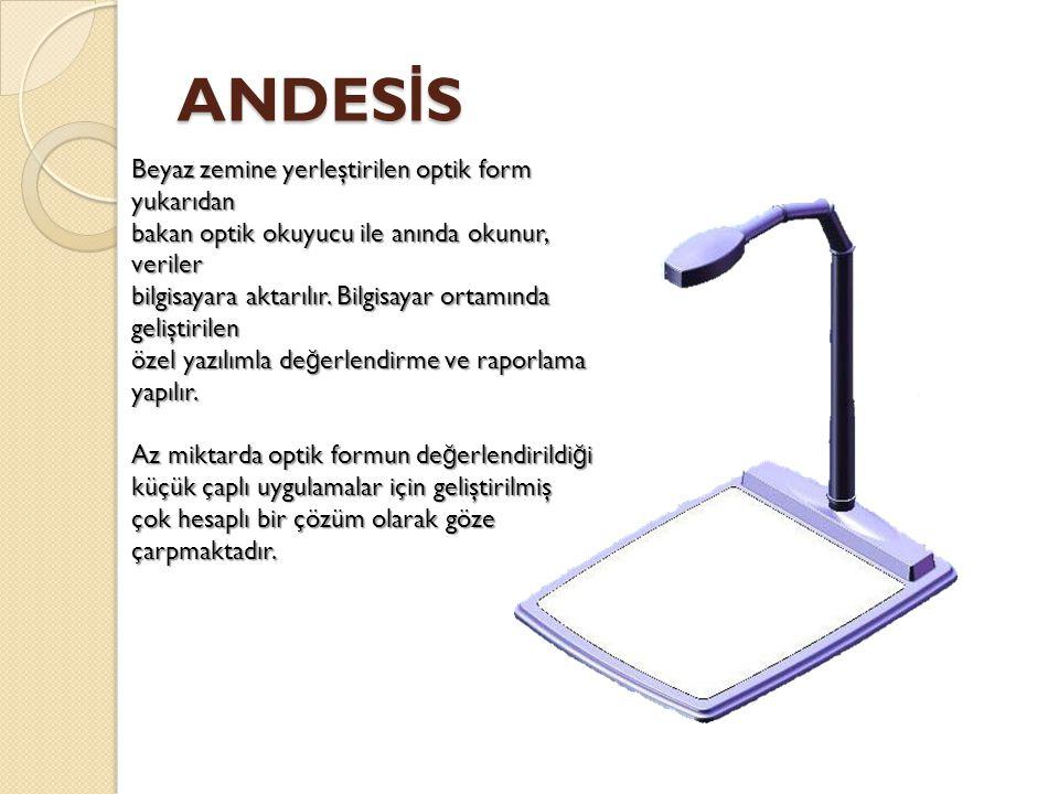 ANDESİS Beyaz zemine yerleştirilen optik form yukarıdan