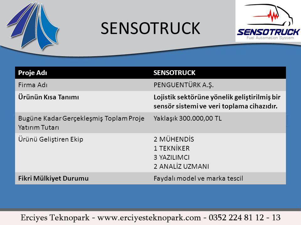 SENSOTRUCK Proje Adı SENSOTRUCK Firma Adı PENGUENTÜRK A.Ş.