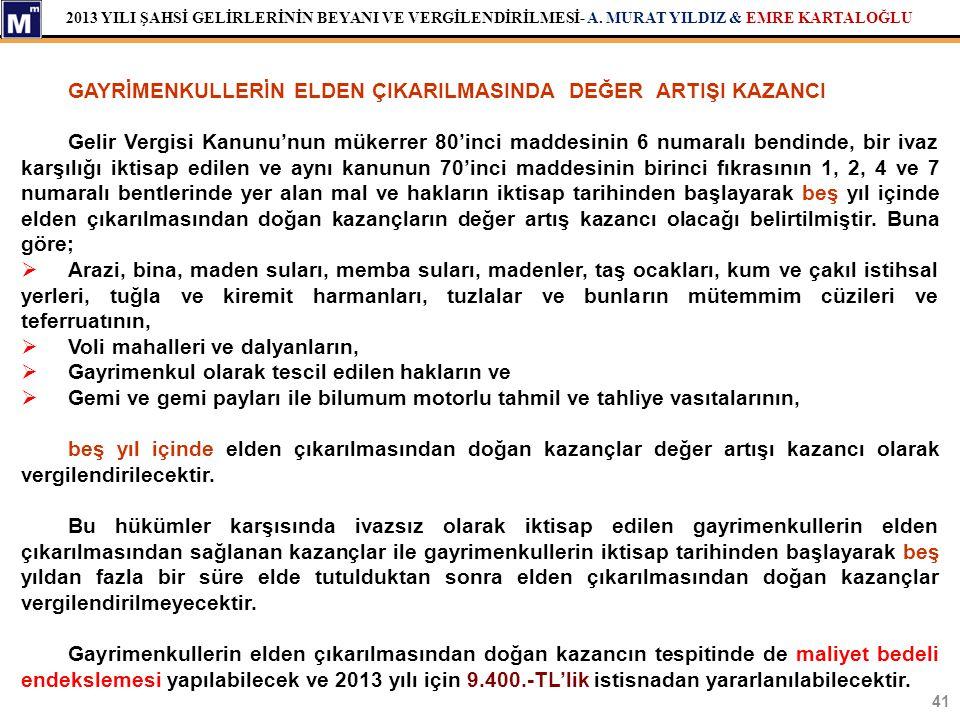 GAYRİMENKULLERİN ELDEN ÇIKARILMASINDA DEĞER ARTIŞI KAZANCI