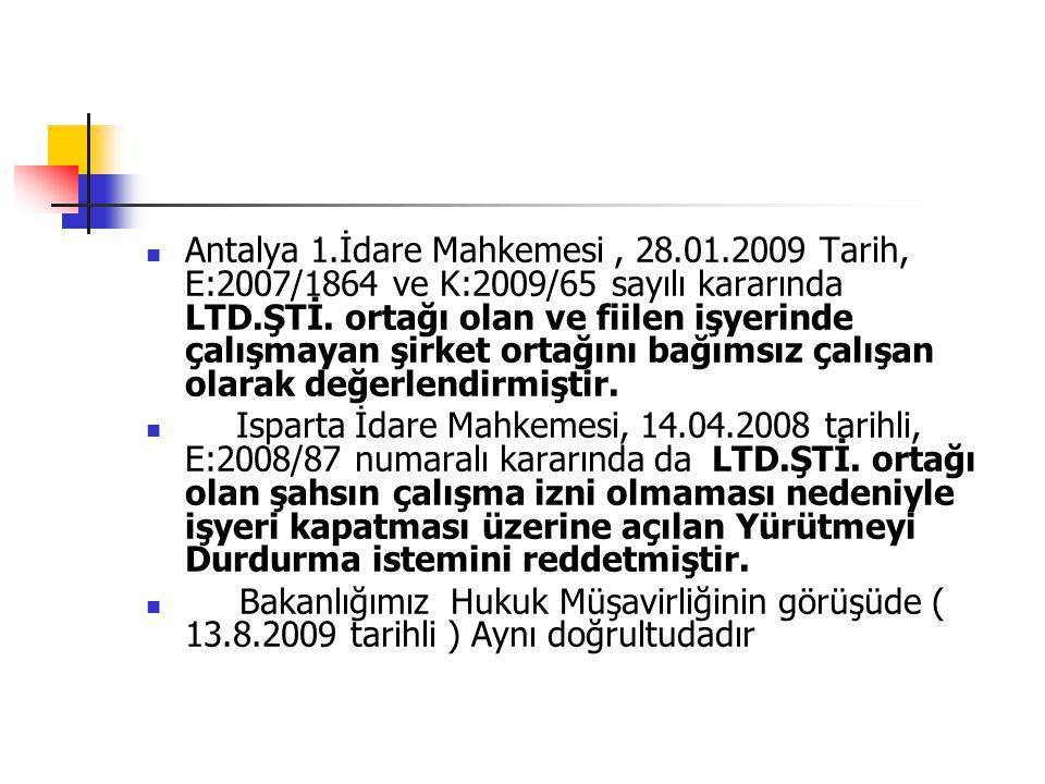 Antalya 1. İdare Mahkemesi , 28. 01