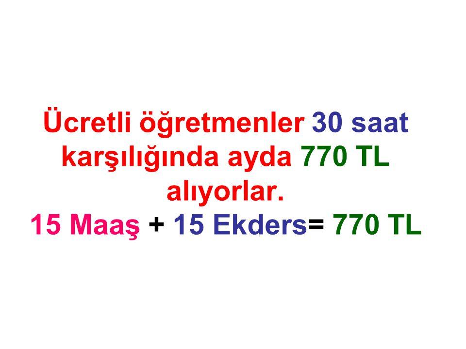 Ücretli öğretmenler 30 saat karşılığında ayda 770 TL alıyorlar