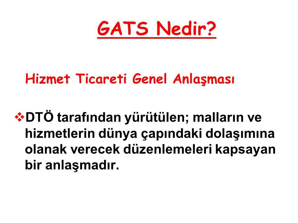 GATS Nedir Hizmet Ticareti Genel Anlaşması