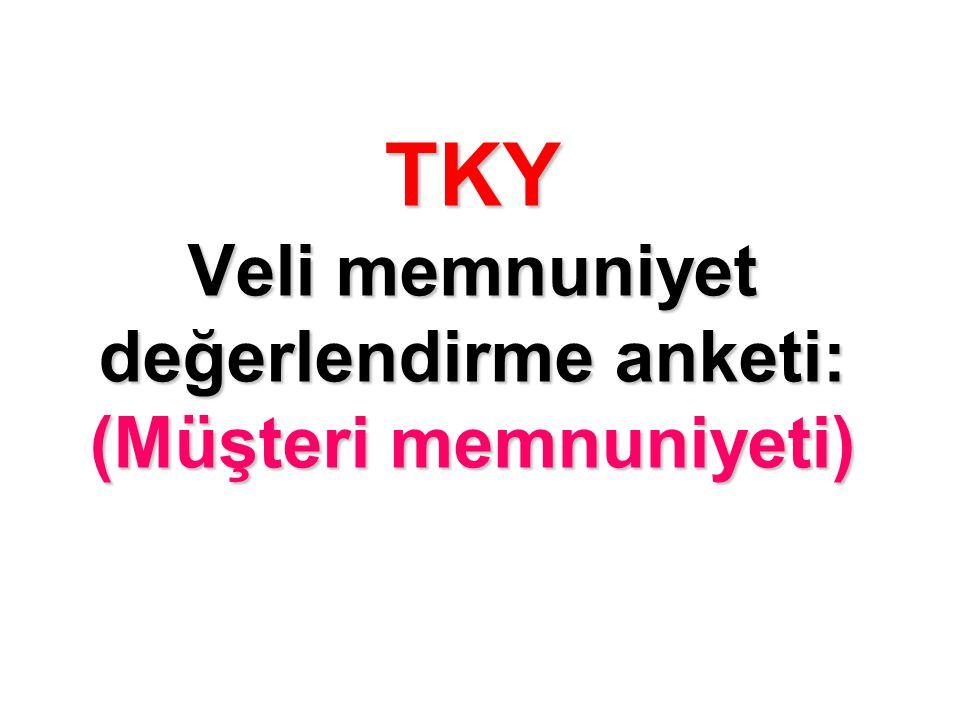 TKY Veli memnuniyet değerlendirme anketi: (Müşteri memnuniyeti)