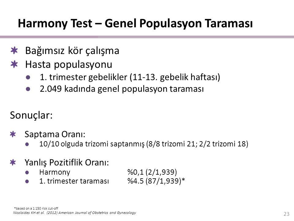 Harmony Test – Genel Populasyon Taraması