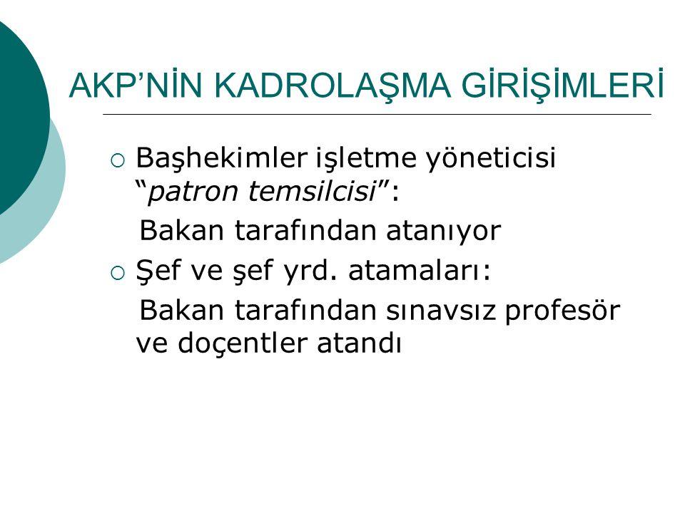 AKP'NİN KADROLAŞMA GİRİŞİMLERİ